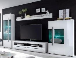 Cnouch Wohnwand, weiß, pflegeleichte Oberfläche weiß