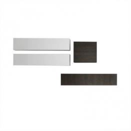 Design Wohnwand in Weiß Hochglanz Wenge hängend (4-teilig) Weiß,Braun,Wenge