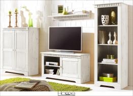 Home affaire Kiefer Wohnwand (4-tlg.) weiß Landhaus Stil FSC®-zertifiziert weiß