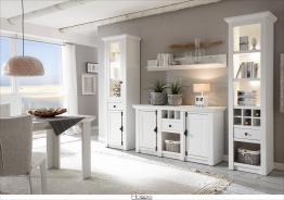 Home affaire Landhaus Wohnwand (4-tlg.: Stehregal weiß »California« FSC®-zertifiziert weiß