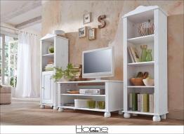 Home affaire Landhaus Wohnwand weiß »Mette« FSC®-zertifiziert weiß