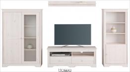 Home affaire Massivholz Wohn-Wand weiß »Pöhl« FSC®-zertifiziert weiß