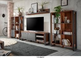 Home affaire Schrankwand (4tlg.) braun »Detroit Set 1« FSC®-zertifiziert braun