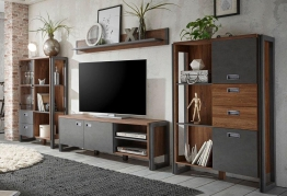 Home affaire Schrankwand »Detroit Set 2« braun, FSC®-zertifiziert braun