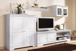 Home affaire Wohnwand (3-tlg.), Breite 248 cm, weiß, weiß weiß