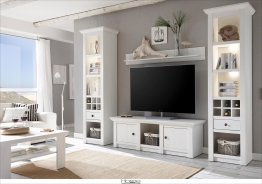 Home affaire Wohnwand (4-tlg.: 2 Standregale weiß »California« FSC®-zertifiziert weiß