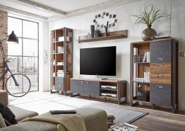Home affaire Wohnwand (4tlg.) »Detroit Set 4« im angesagten... braun
