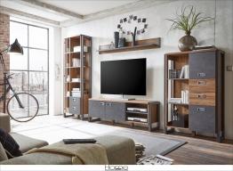 Home affaire Wohnwand (4tlg.) im angesagten Industrial Look »Detroit Set 4« braun FSC®-zertifiziert braun