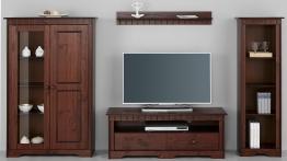 Home affaire Wohnwand braun, »Poehl«, pflegeleichte Oberfläche, FSC®-zertifiziert