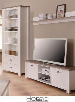Home affaire Wohnwand »Chateau« weiß mit Aufbauservice Landhaus Stil FSC®-zertifiziert weiß