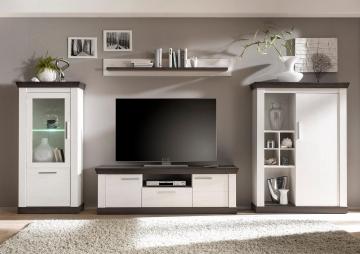 Home affaire Wohnwand weiß, »Siena«, pflegeleichte Oberfläche, FSC®-zertifiziert