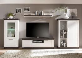 Home affaire Wohnwand weiß, »Siena«, pflegeleichte Oberfläche, FSC®-zertifiziert weiß