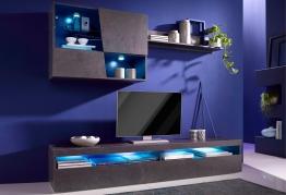 Inosign Wohnwand, schwarz, pflegeleichte Oberfläche schwarz