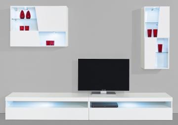 Inosign Wohnwand, weiß, pflegeleichte Oberfläche weiß