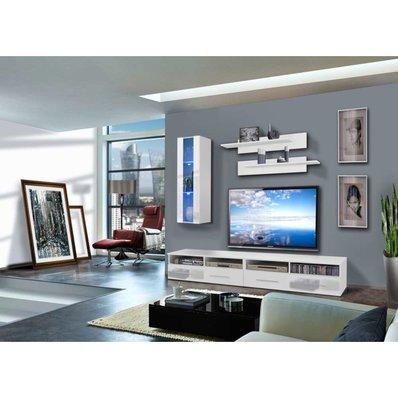 justhome clevo b i wohnwand 180x240x45 wei wei wohnw nde zum bestpreis kaufen. Black Bedroom Furniture Sets. Home Design Ideas
