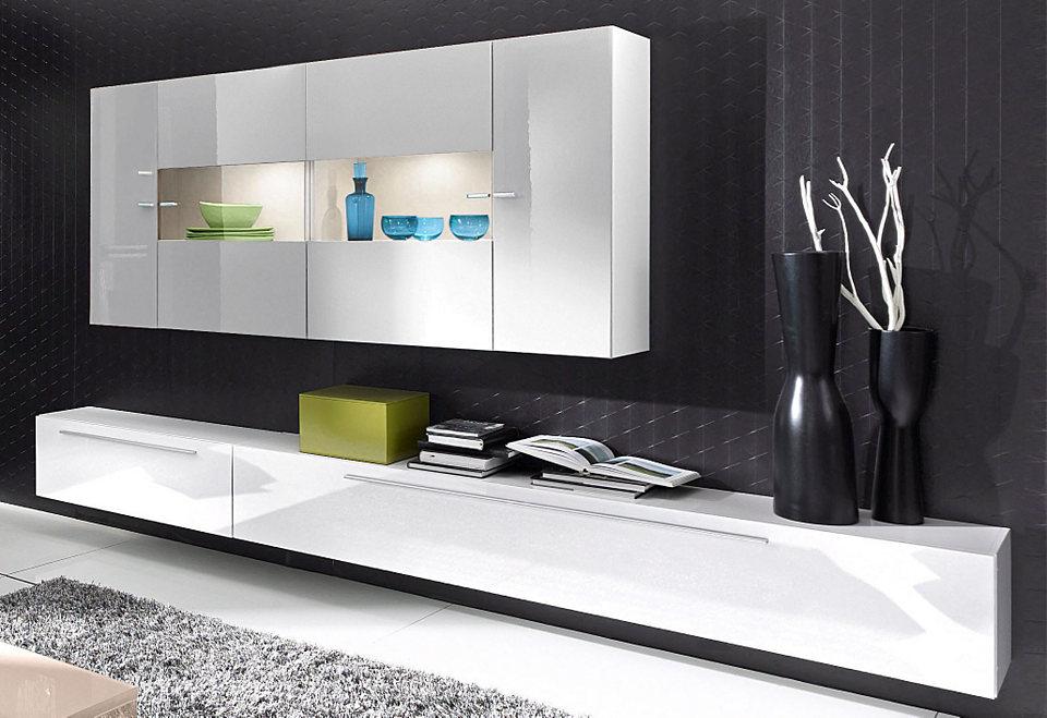 lc wohnwand 4 tlg wei wohnw nde zum bestpreis kaufen. Black Bedroom Furniture Sets. Home Design Ideas