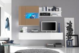Lc Wohnwand, weiß, pflegeleichte Oberfläche weiß