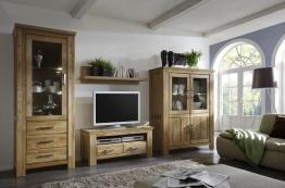 Wohnkombination Wildeiche Massiv Geölt Woody 101-00044 Holz Modern Eiche