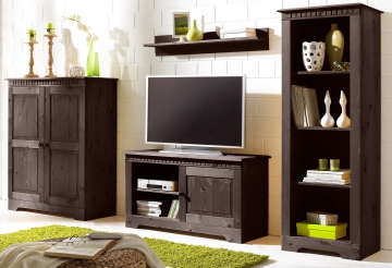 wohnwand 4 tlg home affaire breite 234 cm wohnw nde. Black Bedroom Furniture Sets. Home Design Ideas