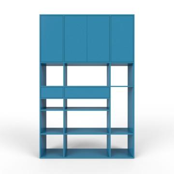 wohnwand blau mdf konfigurierbar blau wohnw nde zum bestpreis kaufen. Black Bedroom Furniture Sets. Home Design Ideas