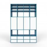 Wohnwand Blau - MDF - konfigurierbar Blau