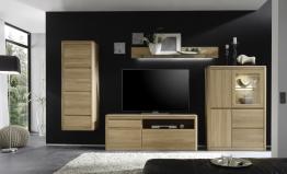 Wohnwand Eiche Bianco Massiv Geölt & Gewachst Woody 35-00173 Holz Modern