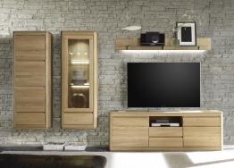 Wohnwand Eiche Bianco Massiv Geölt & Gewachst Woody 35-00175 Holz Modern
