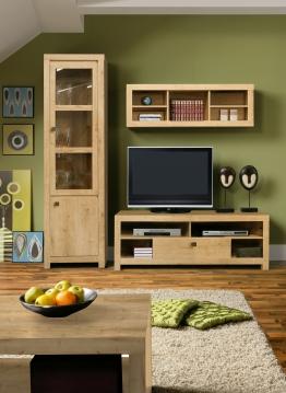 Wohnwand Eiche Natur Woody 77-00480 Holz modern