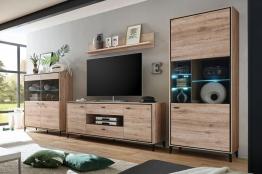 Wohnwand modern schwarz  ➥ Wohnwand Modern ➟ Jetzt in über 5000 Wohnwänden stöbern!