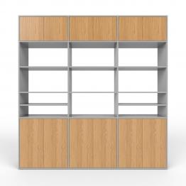 Wohnwand Grau - MDF - konfigurierbar Grau