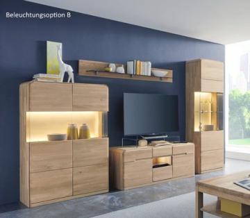 wohnwand in eiche bianco massiv woody 35 00274 holz modern. Black Bedroom Furniture Sets. Home Design Ideas