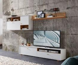Wohnwand In Pinie Weiss Woody 121-00515 Holz Modern Pinie Weiss