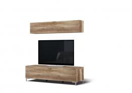 Wohnwand In Wildeiche Woody 156-00330 Holz Modern Wildeiche