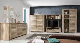 Wohnwand Mit Sideboard Eiche Antik Woody 77-00387 Holz modern