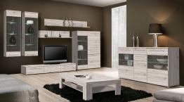 Wohnwand Mit Sideboard Sandeiche Woody 77-00589 Holz Modern Eiche