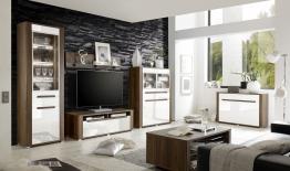 Wohnwand Mit Sideboard Und Couchtisch Woody 147-00314 Weiss Holz Modern