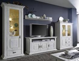 Wohnwand ´Montreal´ Kiefer weiß vintage
