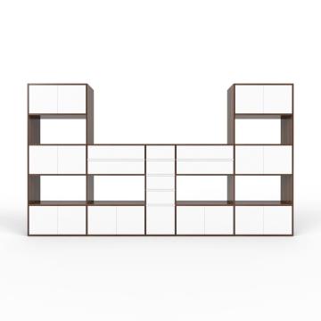Wohnwand Nussbaum - MDF - konfigurierbar Nussbaum