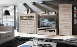 Wohnwand Sandeiche Woody 77-00513 Holz Modern Eiche