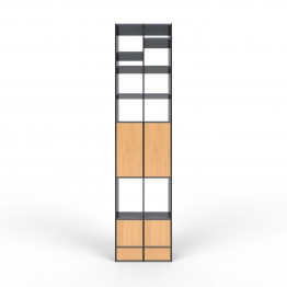 Wohnwand Schwarz - MDF - konfigurierbar Schwarz