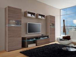 Wohnwand Sonoma Trüffel Nachbildung Woody 156-00011 Eiche Modern