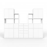 Wohnwand Weiß - MDF - konfigurierbar Weiß