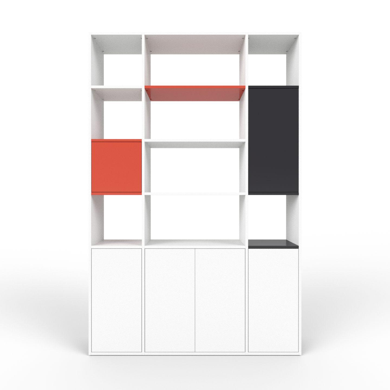 wohnwand wei mdf konfigurierbar wei wohnw nde zum. Black Bedroom Furniture Sets. Home Design Ideas