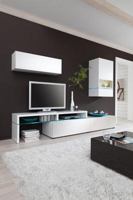 wohnwand weiss nachbildung woody 156 00017 modern weiss wohnw nde zum bestpreis kaufen. Black Bedroom Furniture Sets. Home Design Ideas