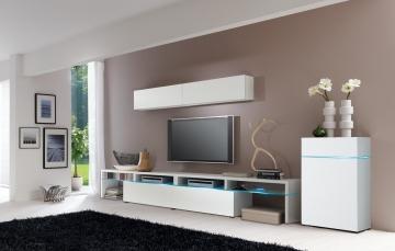 wohnwand weiss nachbildung woody 156 00024 modern wohnw nde zum bestpreis kaufen. Black Bedroom Furniture Sets. Home Design Ideas
