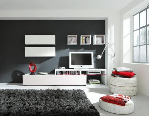 wohnwand weiss nachbildung woody 156 00027 modern weiss wohnw nde zum bestpreis kaufen. Black Bedroom Furniture Sets. Home Design Ideas