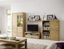 Wohnwand Wildeiche Bianco Massiv Geölt Woody 101-00081 Holz Modern Wildeiche