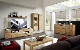Wohnzimmer Eiche Altholz Mit Sideboard Und Beleuchtung Woody 22-01278 Modern