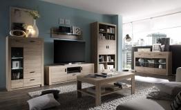 Wohnzimmer Eiche Sonoma Woody 147-00083 Holz Modern Eiche