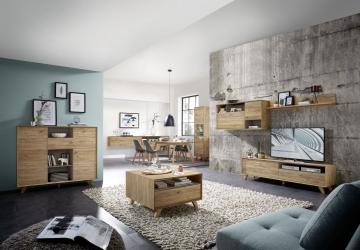 Wohnzimmer In Navarra-eiche Woody 121-00522 Holz Modern ...